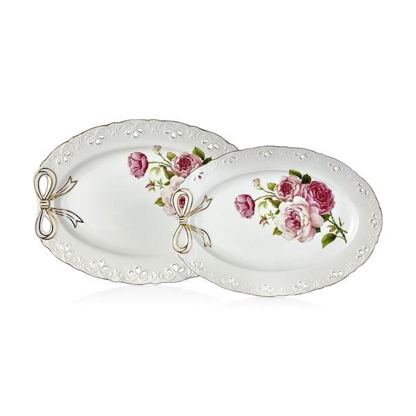 Balada 2 db-os porcelán tálalótál készlet