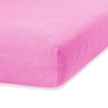 Cearceaf elastic AmeliaHome Ruby, 200 x 160-180 cm, roz de la AmeliaHome