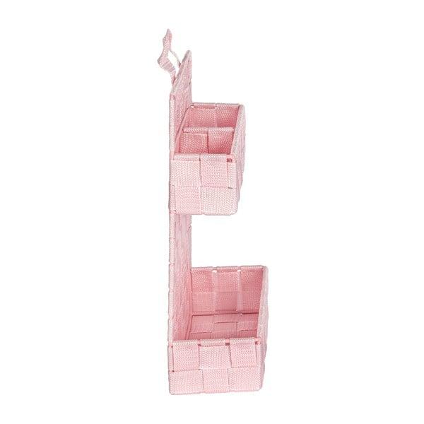 Růžový dvojitý koupelnový organizér Wenko Adria