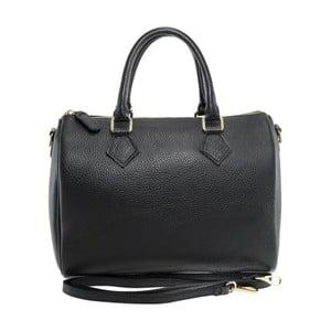 Černá kožená kabelka Chicca Borse Rossi