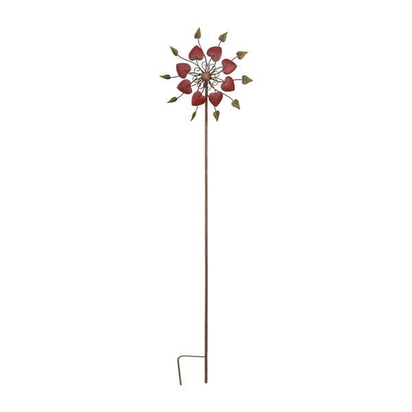 Zapichovací větrník na zahradu Flower, 146 cm