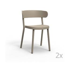 Sada 2 béžových zahradních židlí Resol Casino