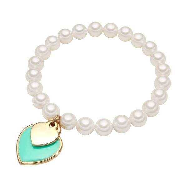Náramek s bílou perlou Perldesse Are, ⌀0,8xdélka19cm