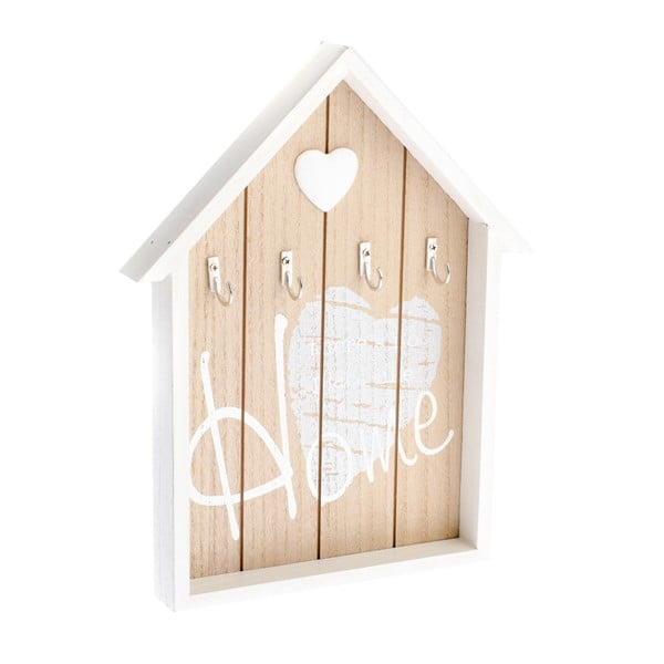 Nástenný drevený vešiak na kľúče v tvare domčeka Dakls Ruseno