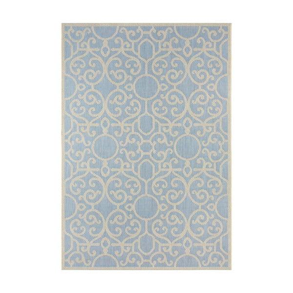 Modro-béžový venkovní koberec Bougari Nebo, 200 x 290 cm