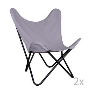 Sada 2 šedých židlí House Nordic Como
