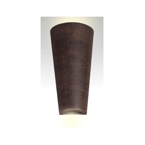 Nástěnné keramické světlo Tuba, wenge