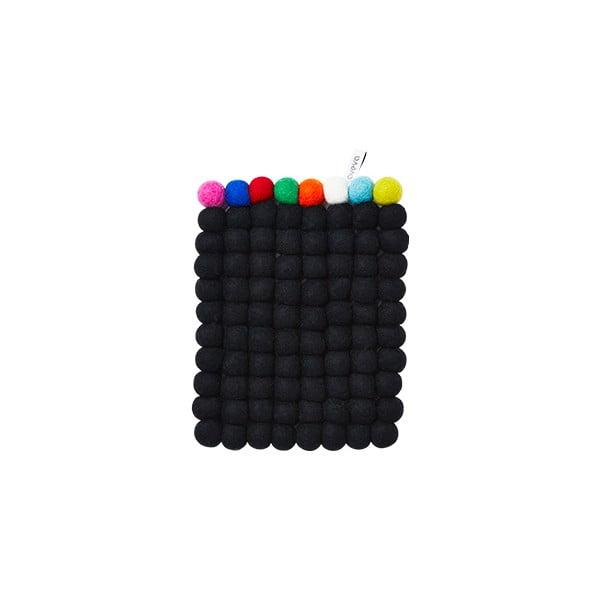 Vlněná podložka Trivet Black/Multi, 22x17 cm