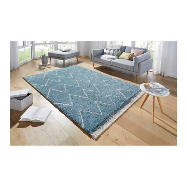 Modrý koberec Mint Rugs Rotonno, 80x150cm