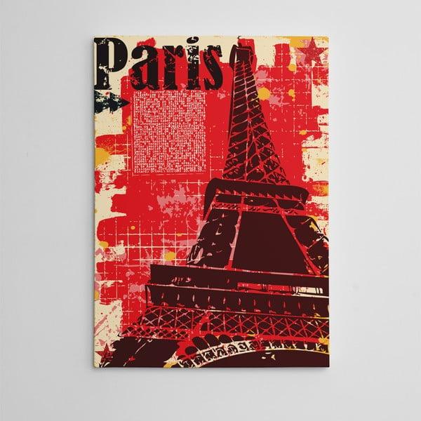 Obraz na plátně Red Paris, 50x70 cm