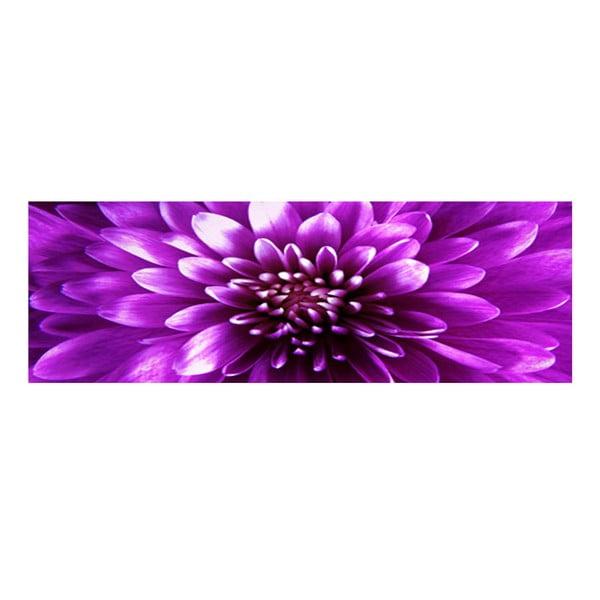 Obraz na skle Fialový květ, 30x90 cm
