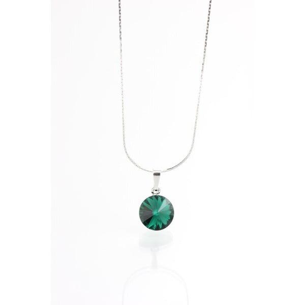 Zelený náhrdelník se Swarovski krystaly Yasmine Longie
