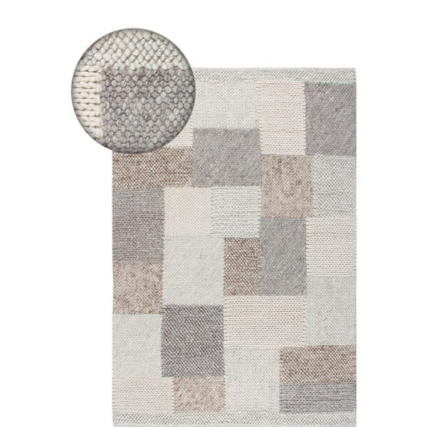 Brązowo-szary dywan z wełny Carpettino, 170x240 cm