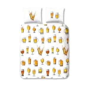 Lenjerie de pat din bumbac Good Morning Beer, 140 x 200 cm