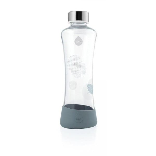 Šedá skleněná láhev z borosilikátového skla Equa Metallic, 550ml