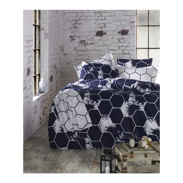Lenjerie de pat cu cearșaf din bumbac Chela,200x220cm