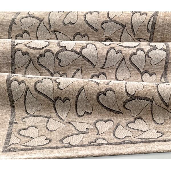 Béžový vysoce odolný kuchyňský běhoun Webtappeti Corazon Tortora,55x140cm