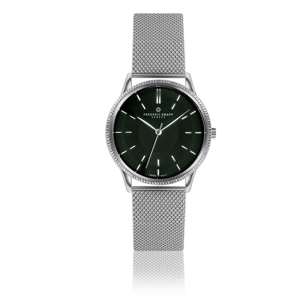 Unisex hodinky z nerezové oceli s páskem ve stříbrné barvě Frederic Graff Roland