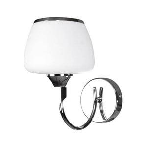 Bílé nástěnné svítidlo s detaily v chromové barvě Peony