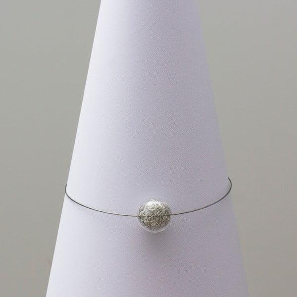 Skleněný náhrdelník ko-ra-le Wired, stříbrný