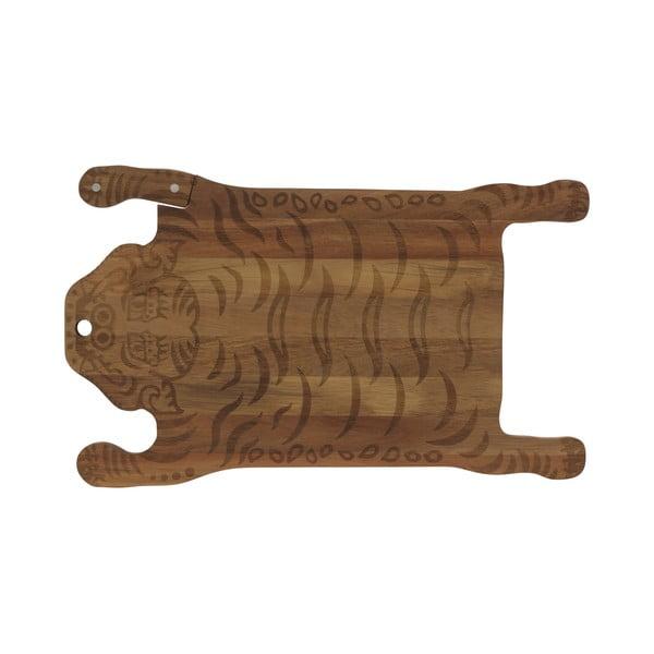 Tocător din lemn DOIY Tiger, 44 x 26 cm