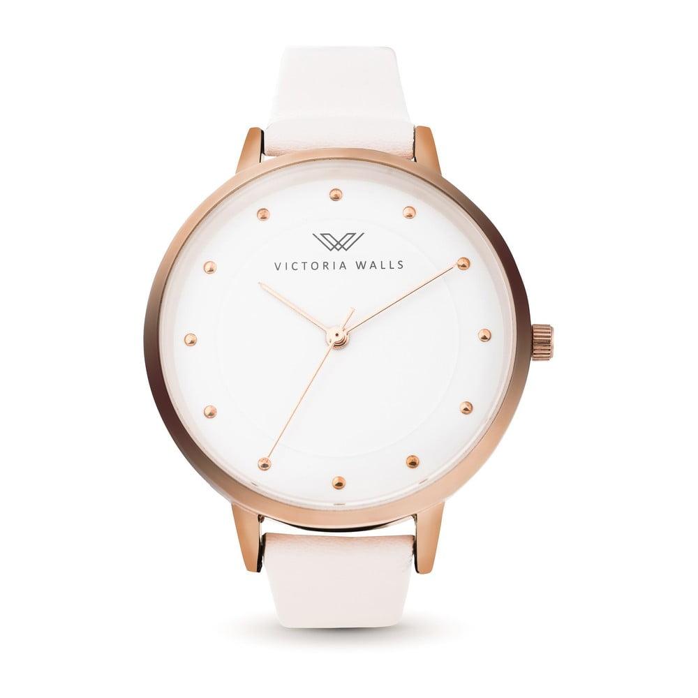 Dámské hodinky s bílým koženým řemínkem Victoria Walls Lordana