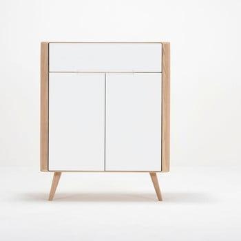 Comodă din lemn de stejar Gazzda Ena One, 90 x 42 x 110 cm de la Gazzda