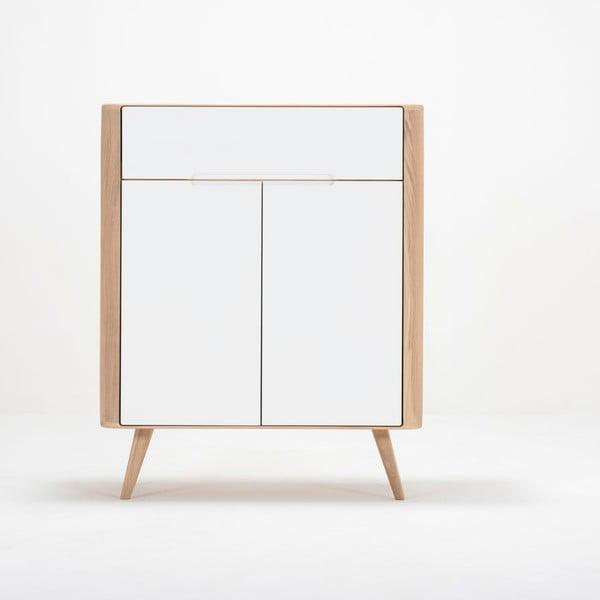 Ena One tölgyfa komód, 90 x 42 x 110 cm - Gazzda