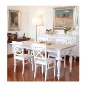 Bílý dřevěný rozkládací jídelní stůl Castagnetti Adeline