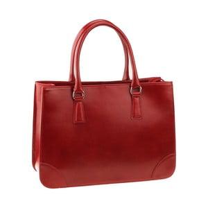 Červená kožená kabelka Florence Bags Denebola