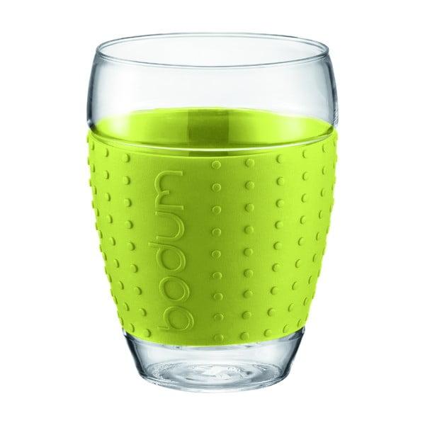 Sada 2 sklenic Pavina Big, zelený proužek