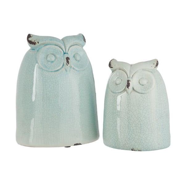 Dekorace Azure Owl, 21,5 cm