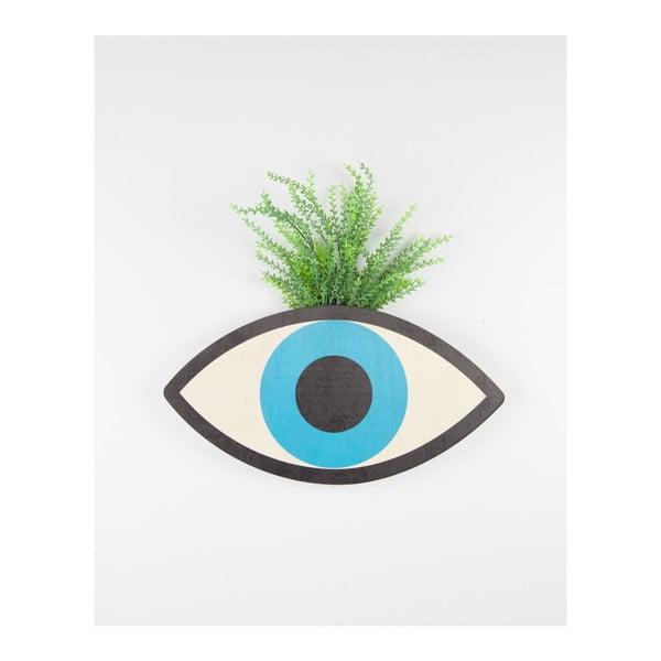 Nástěnný květináč z bukového dřeva Surdic Blue Eyes