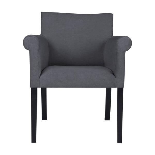 Tmavě šedé křeslo BSL Concept Arte