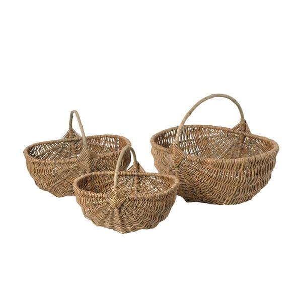 Sada 3 proutěných košíků Antic Line Willow