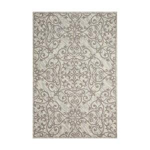 Béžový koberec Nourison Damask Bairu, 114 x 69 cm