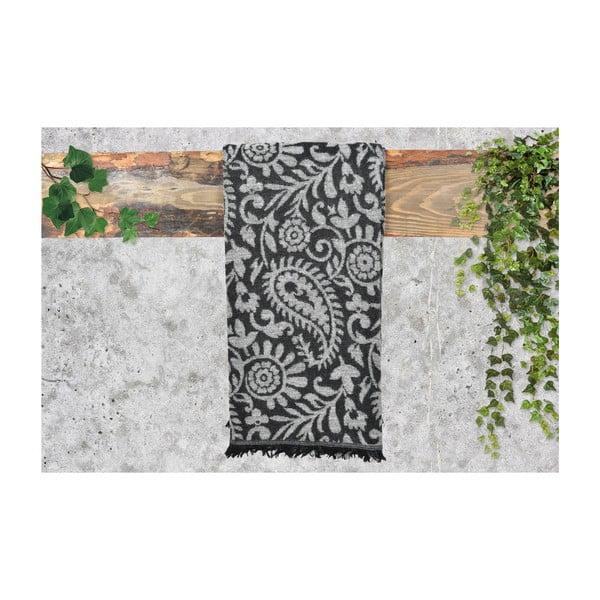 Bílo-černý dámský šál s příměsí bavlny Dolce Bonita Otantic Mini, 170 x 90 cm