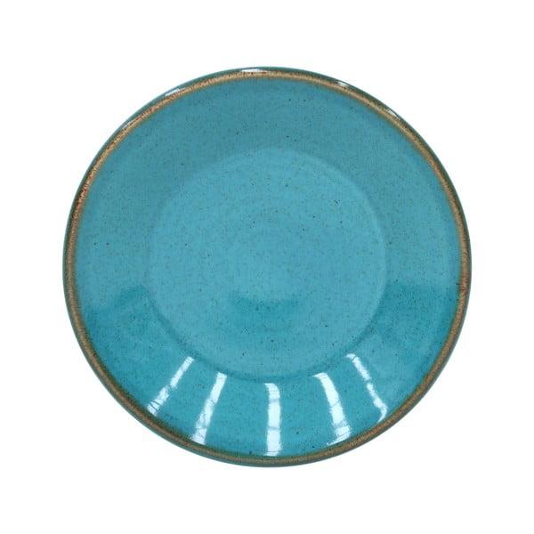 Modrý tanierik z kameniny Casafina Sardegna, ⌀ 16 cm