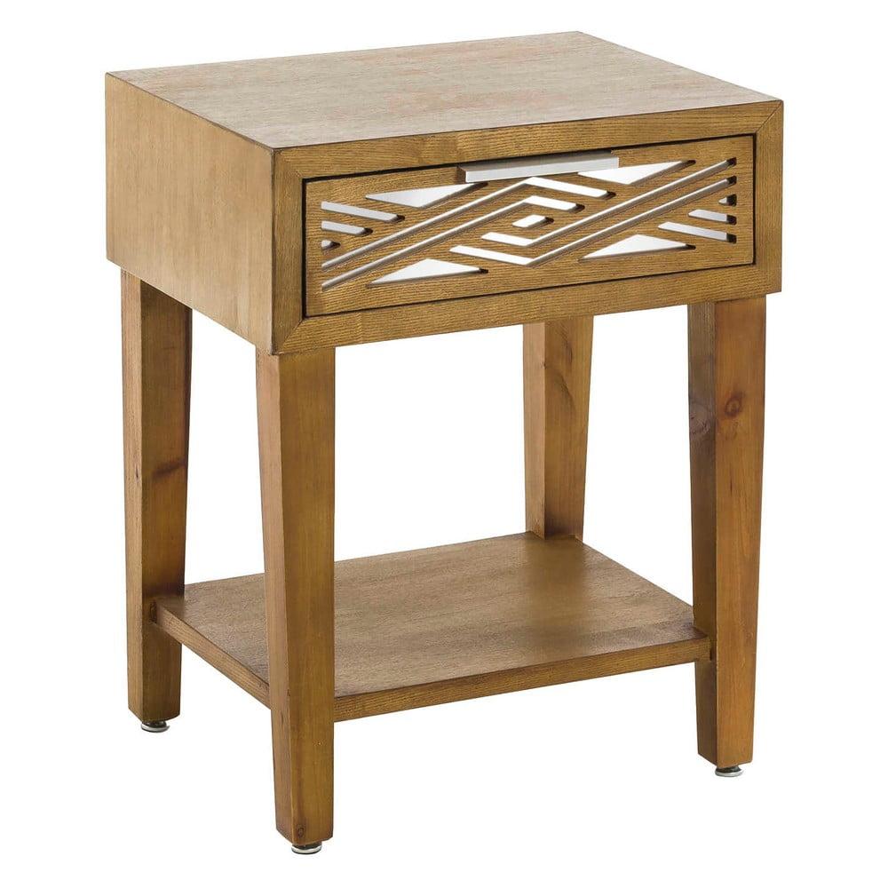Dřevěný noční stolek Tropicho Mirror