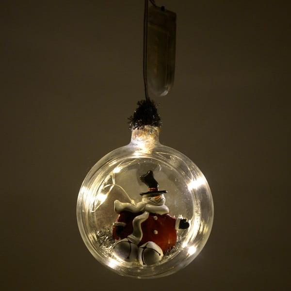 Vánoční skleněná světelná dekorace ve tvaru koule InArt Rachel
