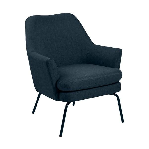 Granatowy fotel Actona Chisa