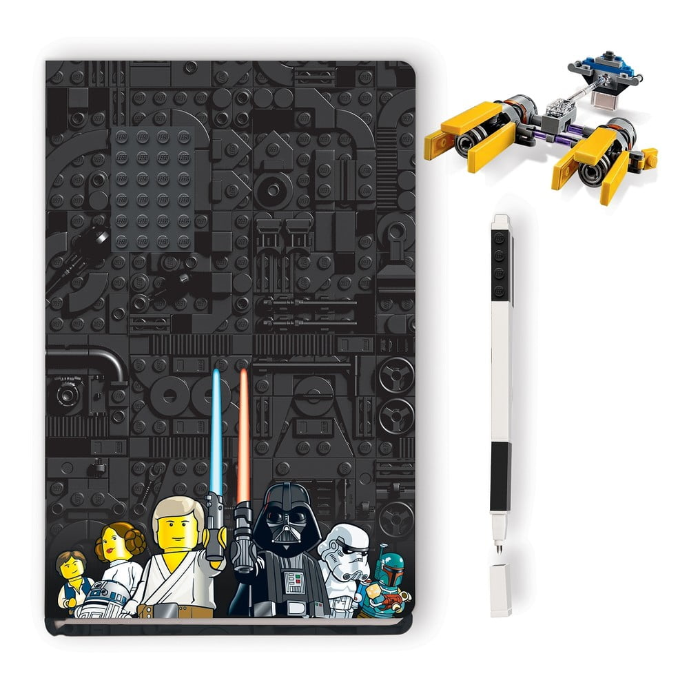 Sada zápisníku, pera astavebnice LEGO® Star Wars Podracer