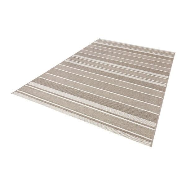 Béžový koberec vhodný do exteriéru Bougari Strap, 120x170cm
