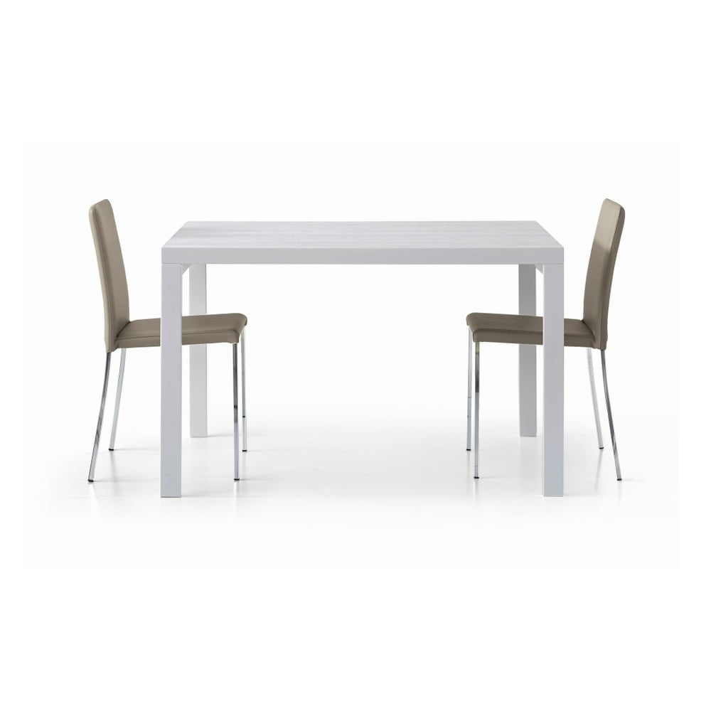 Bílý dřevěný rozkládací jídelní stůl Castagnetti Kao, 120 cm