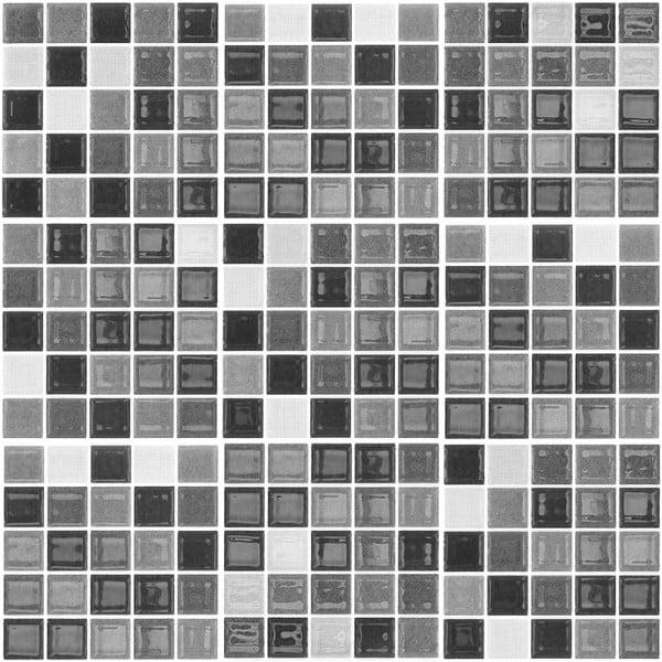 Sada 9 dekorativních samolepek na stěnu Ambiance Shade of Grey, 15 x 15 cm