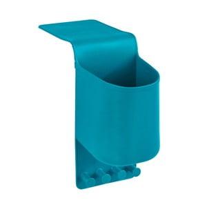 Modrý silikonový závěsný organizér s háčky Wenko Ampio Small
