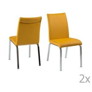 Set 4 scaune Actona Leonora, galben