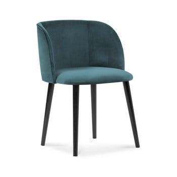 Scaun cu înveliș de catifea Windsor & Co Sofas Aurora, albastru petrol de la Windsor & Co Sofas