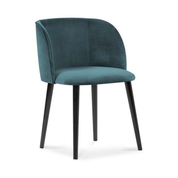 Petrolejově modrá jídelní židle se sametovým potahem Windsor & Co Sofas Aurora