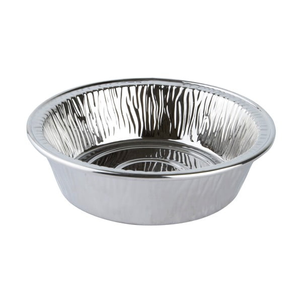 Porcelánová servírovací miska, 18 cm stříbrná